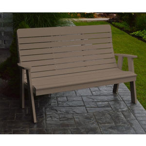 A&L Poly Color Samples Garden Bench 4ft / Weathered Wood