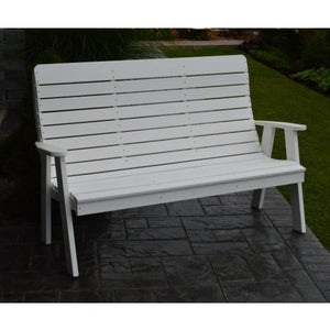 A&L Poly Color Samples Garden Bench 4ft / White