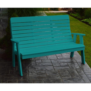 A&L Poly Color Samples Garden Bench Aruba Blue
