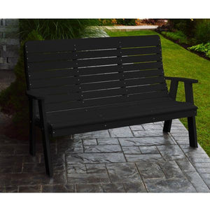 A&L Poly Color Samples Garden Bench Black
