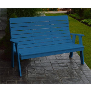 A&L Poly Color Samples Garden Bench 4ft / Blue