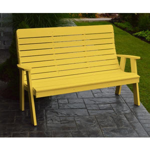 A&L Poly Color Samples Garden Bench Lemon Yellow