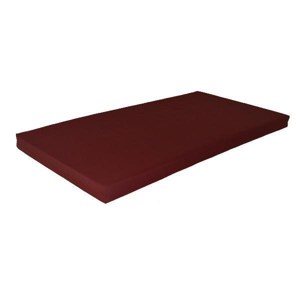 A & L Swing Bed Cushions Cushions 4ft / Burgundy