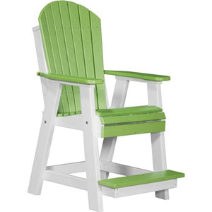 Adirondack Balcony Chair Adirondack Chair Lime Green & White
