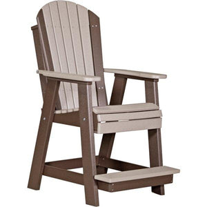Adirondack Balcony Chair Adirondack Chair Weatherwood & Chestnut Brown