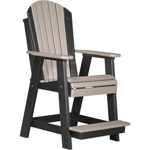Adirondack Balcony Chair Adirondack Chair Weatherwood & Black