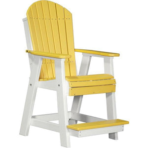 Adirondack Balcony Chair Adirondack Chair Yellow & White