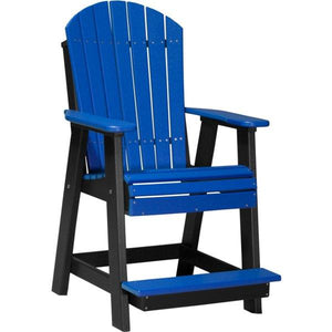 Adirondack Balcony Chair Adirondack Chair Blue & Black