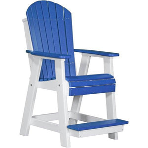 Adirondack Balcony Chair Adirondack Chair Blue & White