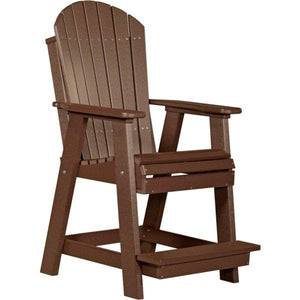 Adirondack Balcony Chair Adirondack Chair Chestnut Brown