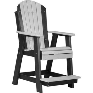 Adirondack Balcony Chair Adirondack Chair Dove Gray & Black