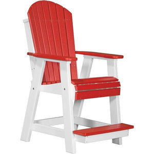 Adirondack Balcony Chair Adirondack Chair Red & White