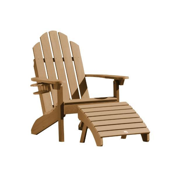 Adirondack Classic Westport Chair with Cup Holder u0026 Folding Ottoman Chair /Ottoman/Cup-  sc 1 st  The Charming Bench Company & Adirondack Classic Westport Chair with Cup Holder u0026 Folding Ottoman ...