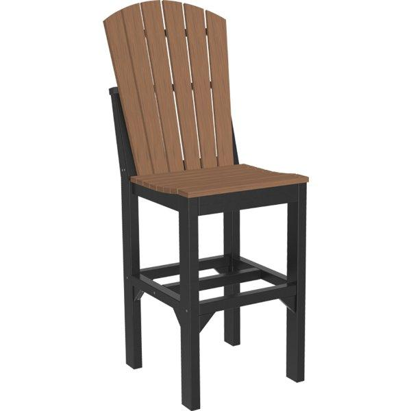 Adirondack Side Chair Side Chair Bar Height / Antique Mahogany & Black