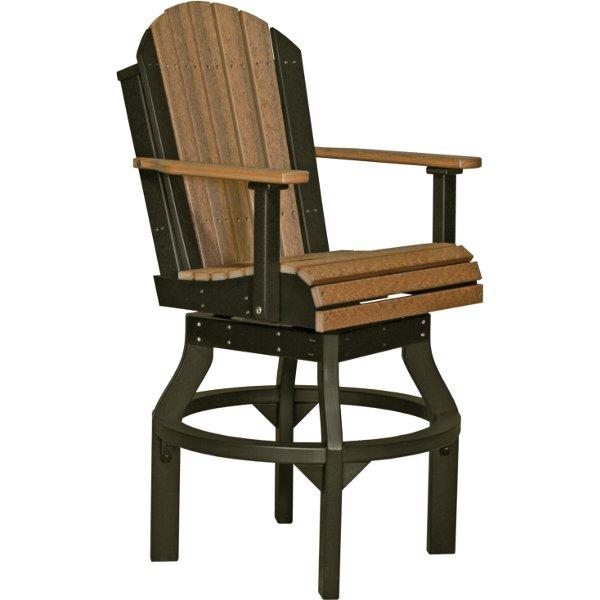 Adirondack Swivel Chair Swivel Chair Bar Height / Antique Mahogany & Black