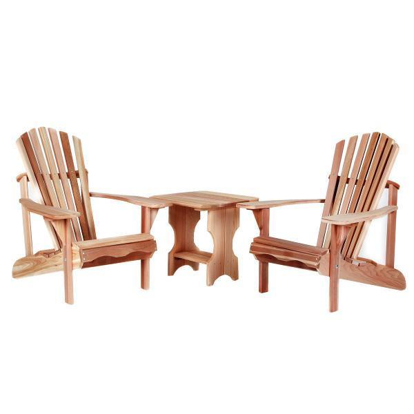 All Things Cedar 3-Piece Adirondack Side Table Set Picnic Table