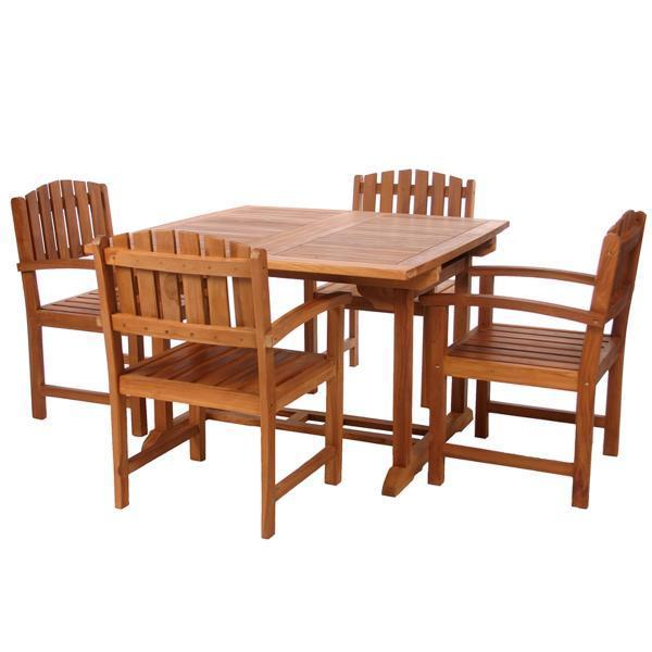 All Things Cedar 5-Piece Butterfly Dining Chair Set & Cushion dining set No Cushion