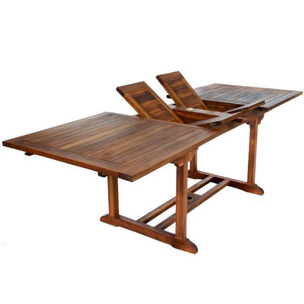 All Things Cedar 5-Piece Rectangle Folding Arm Set table