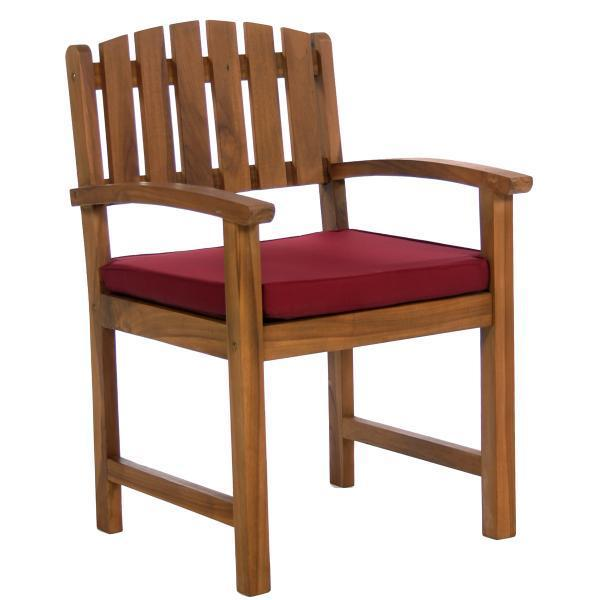 All Things Cedar 7-Piece Rectangle Dining Chair Set & Cushion dining set Red