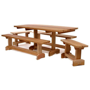 All Things Cedar 5-Piece 6' Market Table Set