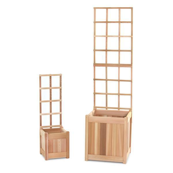 All Things Cedar Planter Set Trellis Kit 2-Piece