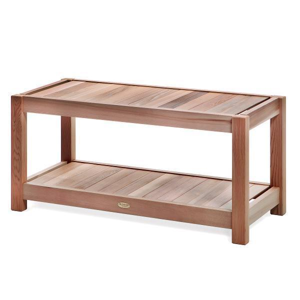 All Things Cedar Sauna Bench Storage Benches
