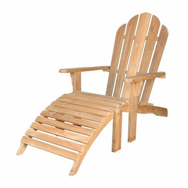 Anderson Teak Adirondack Chair With Ottoman Adirondack