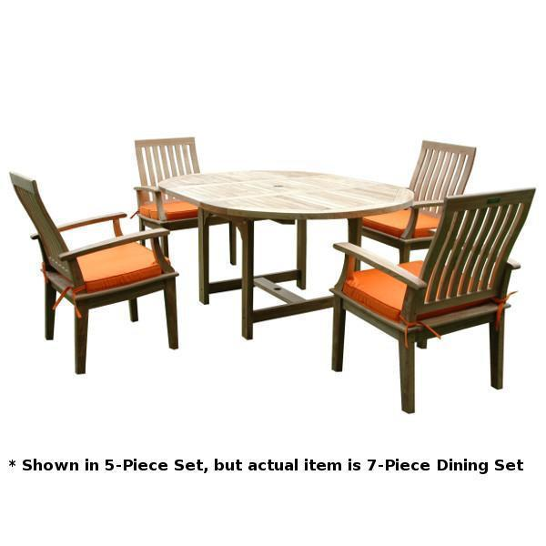 Anderson Teak ahama Brianna 7-Pieces Extension Dining Set Dining Set