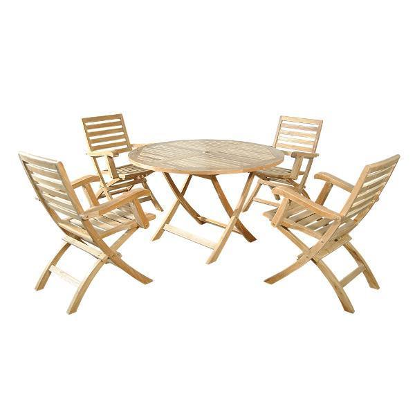 Anderson Teak Andrew Bahama 5-Pieces Folding Dining Set Dining Set