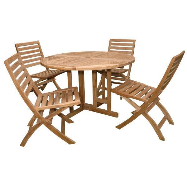 Anderson Teak Andrew Butterfly Folding 5-pieces Dining Set Dining Set