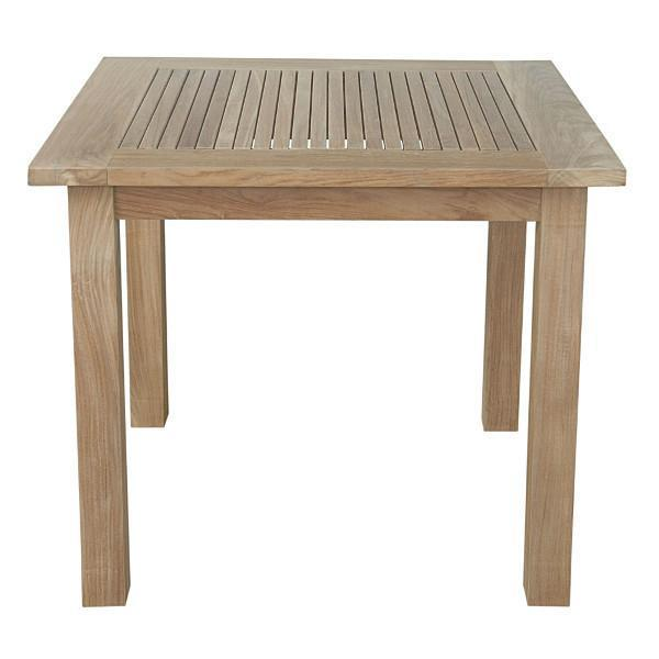 "Anderson Teak Bahama 35"" Square Table Small Slats Outdoor Tables"