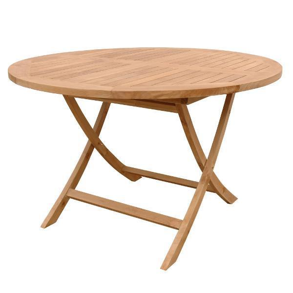 "Anderson Teak Bahama 47"" Round Folding Table Outdoor Tables"