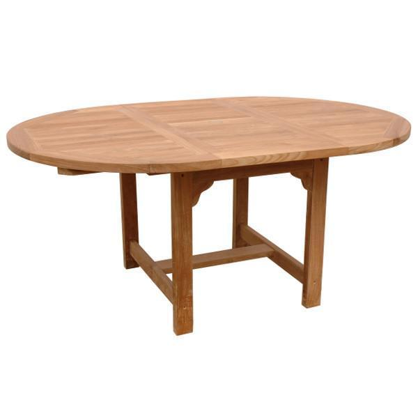 "Anderson Teak Bahama 67"" Oval Extension Table Outdoor Tables"