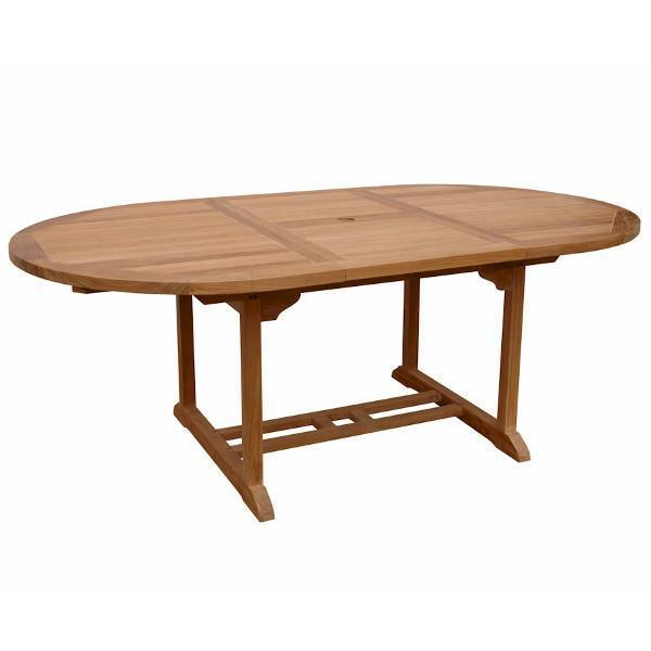 "Anderson Teak Bahama 71"" Oval Extension Table Extra Thick Wood Outdoor Tables"
