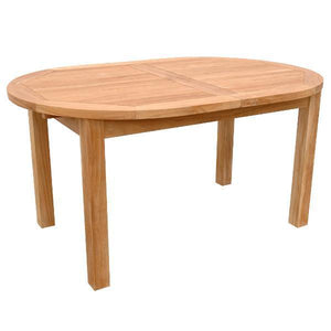 "Anderson Teak Bahama 78"" Oval Extension Table Outdoor Tables"
