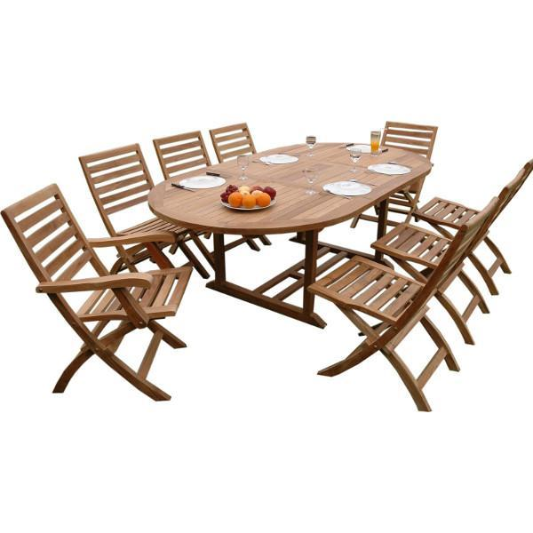 Anderson Teak Bahama Andrew 9-Pieces Dining Set Dining Set