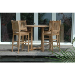 Anderson Teak Bahama Avalon 5-Pieces Round Bar Set Bar Set