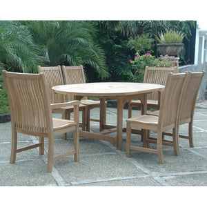 Anderson Teak Bahama Chicago 7-Pieces Dining Chair C Dining Set