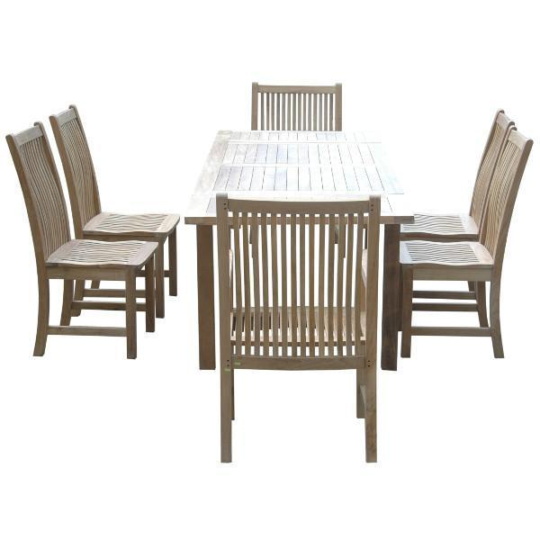 Anderson Teak Bahama Chicago 7-Pieces Dining Set Chair Dining Set