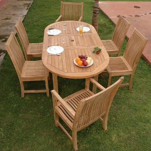 Anderson Teak Bahama Chicago 7-Pieces Dining Set Dining Set