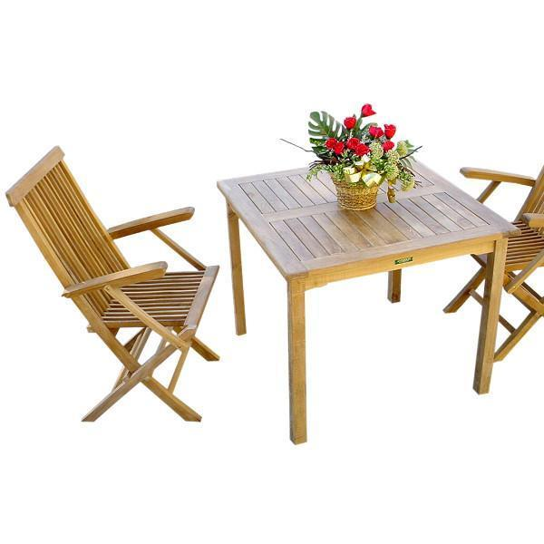 Anderson Teak Bahama Classic 3-Pieces Bistro Table Set Dining Set