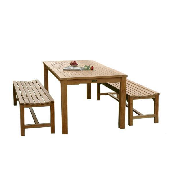 Pleasing Anderson Teak Bahama Hampton 3 Pieces Dining Set Ncnpc Chair Design For Home Ncnpcorg
