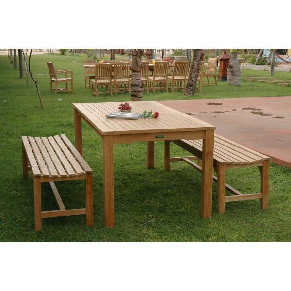 Anderson Teak Bahama Hampton 3-Pieces Dining Set Bench