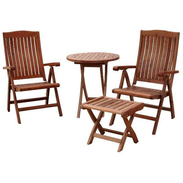 Anderson Teak Bahama Katana 4-Pieces Set Seating Set