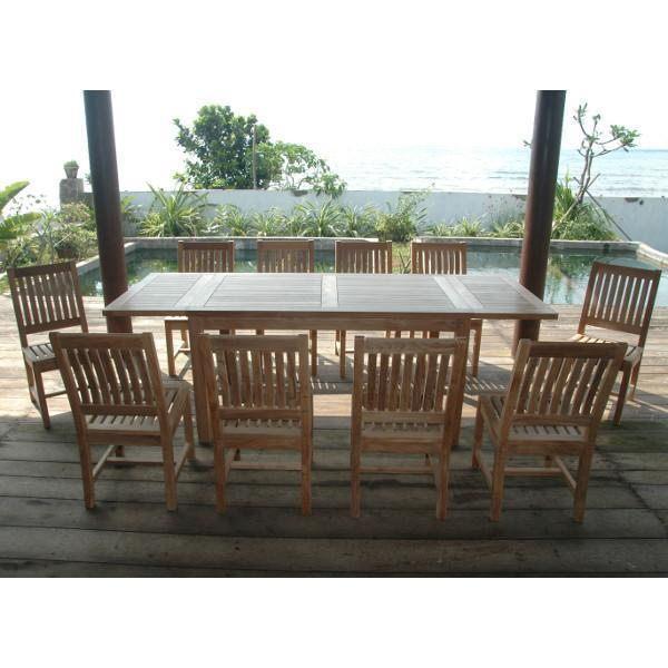 Miraculous Anderson Teak Bahama Rialto 11 Pieces Rectangular Dining Set Ncnpc Chair Design For Home Ncnpcorg