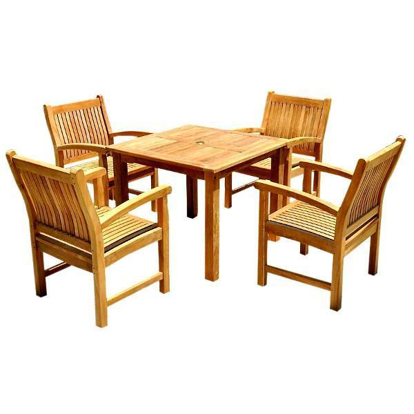 Anderson Teak Bahama Sahara 5-Pieces Bistro Table Set Dining Set