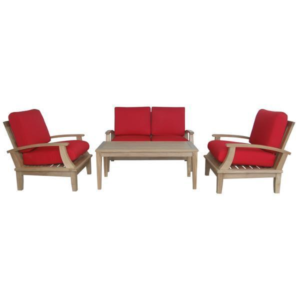 Anderson Teak Brianna 5-Pieces Deep Seating Loveseat Set Seating Set