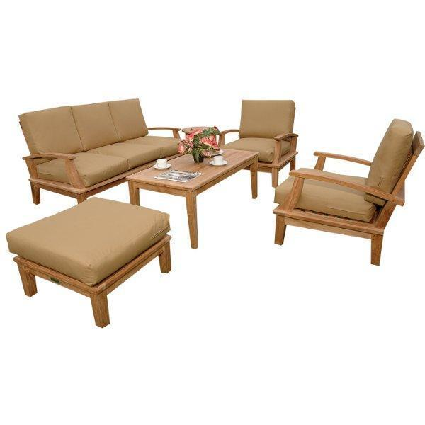 Anderson Teak Brianna 5-Pieces Deep Seating Sofa Set Seating Set