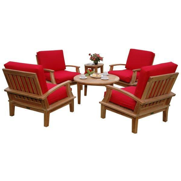 Anderson Teak Brianna 6-Pieces Deep Seating Armchair Set Seating Set