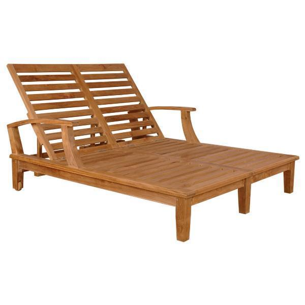 Anderson Teak Brianna Double Sun Lounger with Arm Lounger